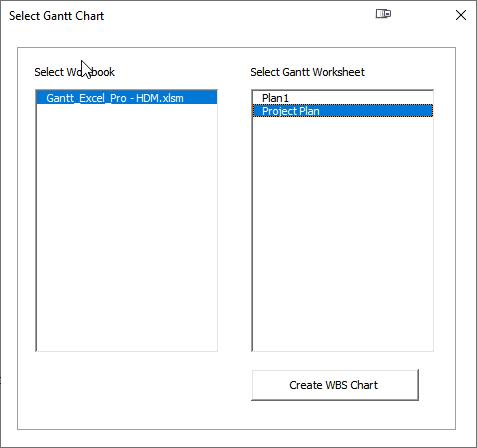Select Gantt Chart