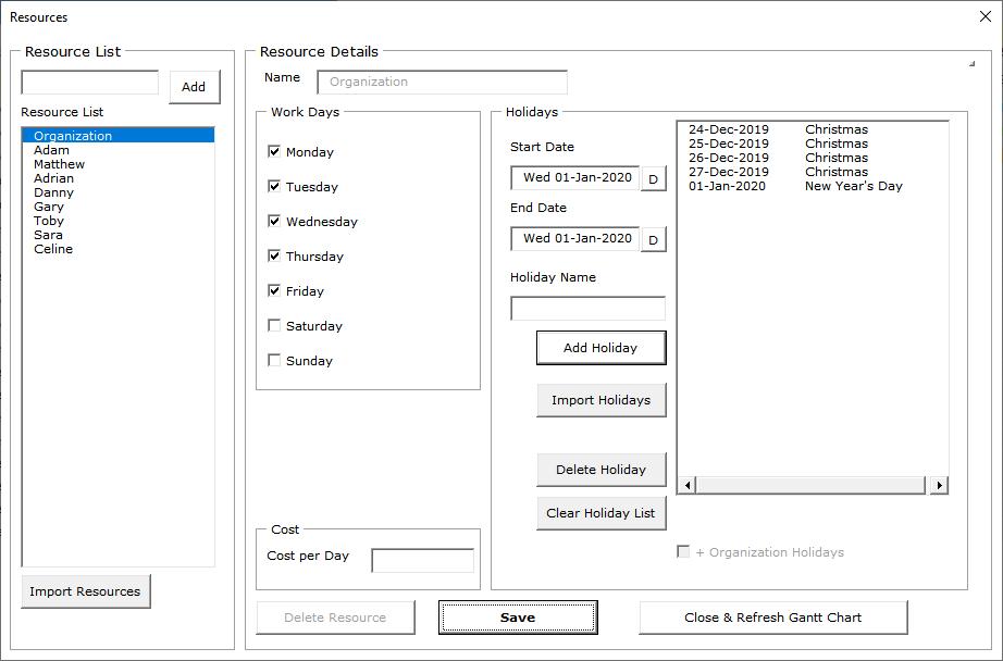 Task Owner Resource